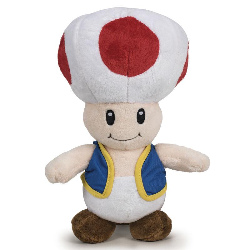 Peluche Toad Super Mario Bros Nintendo soft 20cm