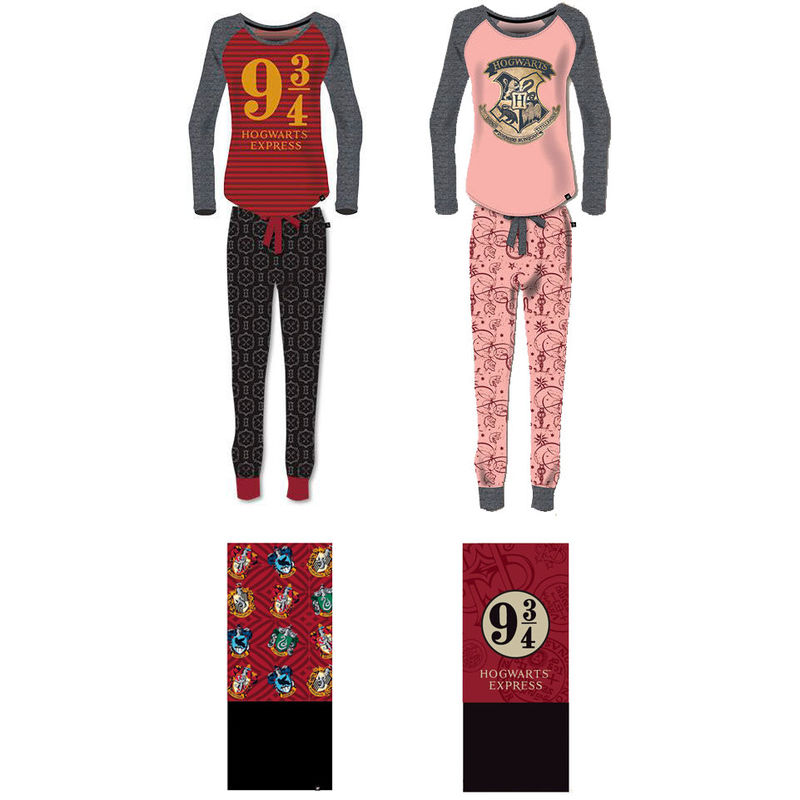12 pijamas Harry Potter + gratis 24 bragas cuello