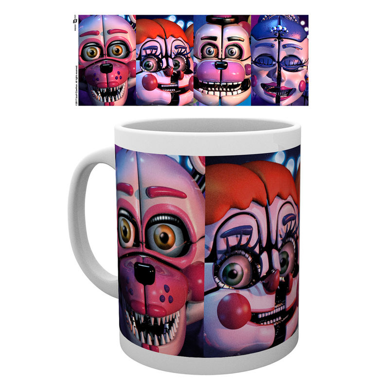 Taza Five Nights at Freddys Sister Location faces