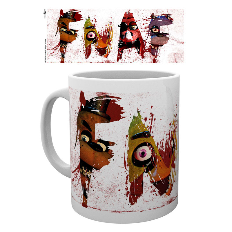 Taza Five Nights at Freddys Letters