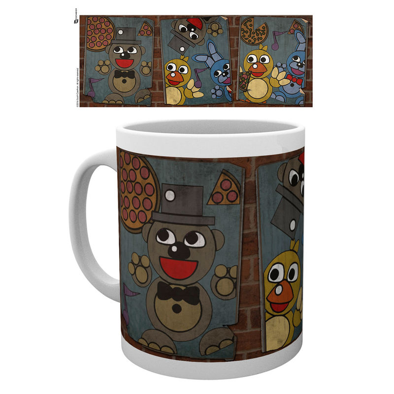 Taza Five Nights at Freddys vintage posters