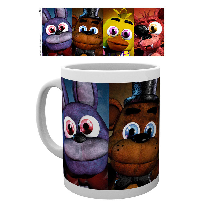 Taza Five Nights at Freddys faces