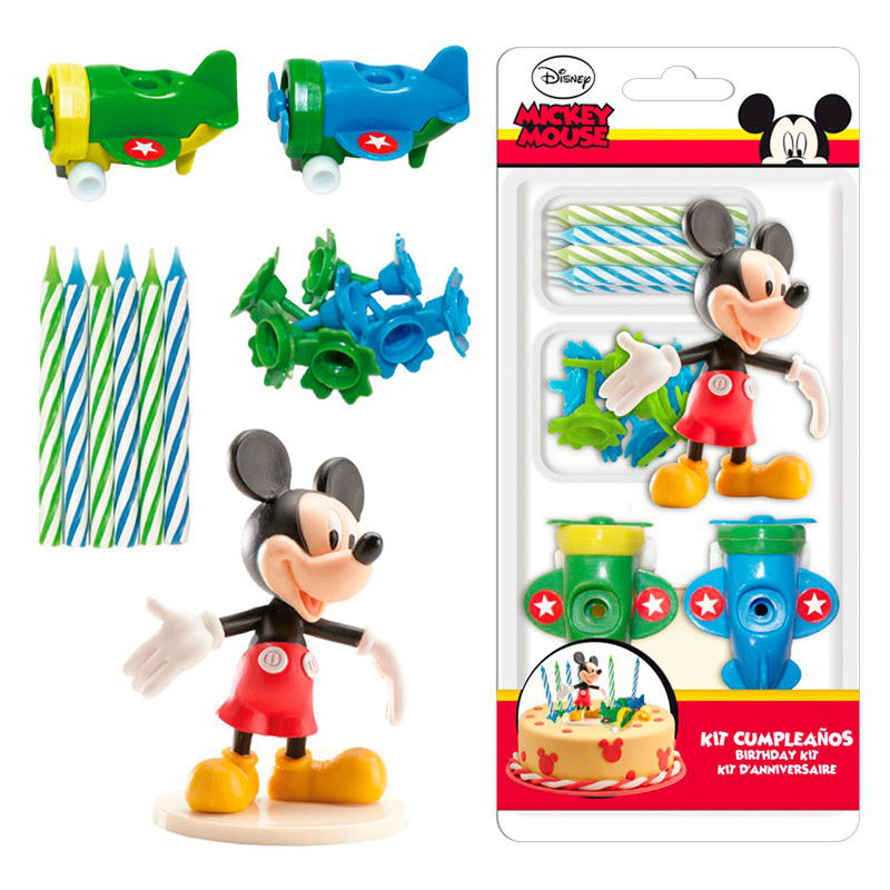 Kit decoracion tartas Mickey Disney velas