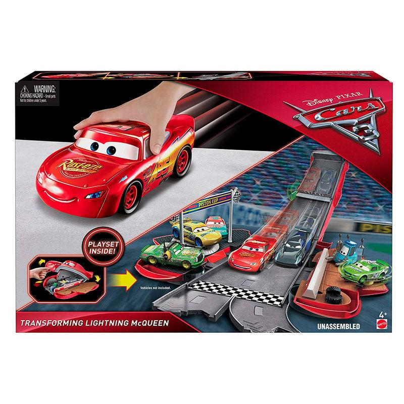 Circuito carreras Rayo McQueen Cars Disney 2 en 1