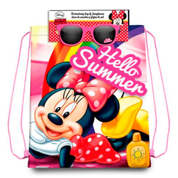 Saco + gafas sol Minnie Disney
