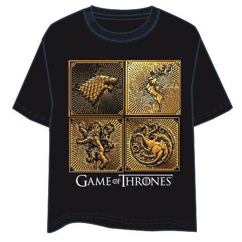 Camiseta Logos Juego de Tronos adulto