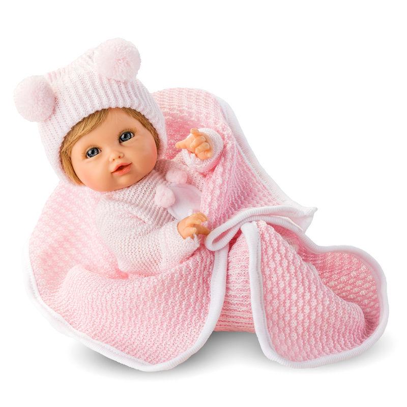 Muñeca Posturitas Pequeño gorrito lana rosa