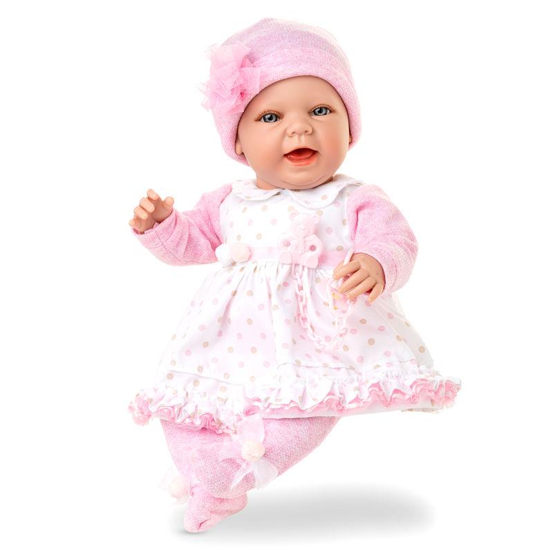 Muñeca Baby Sweet niña gorro rosa