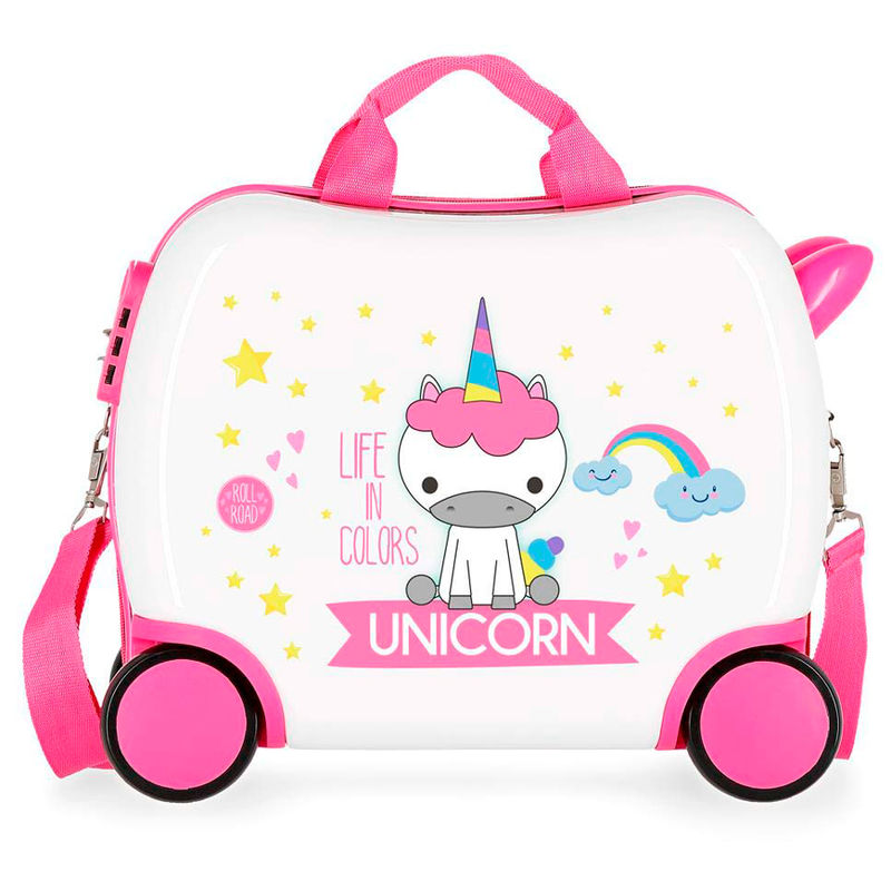 Maleta ABS infantil Little Me Unicorn 4r 34cm
