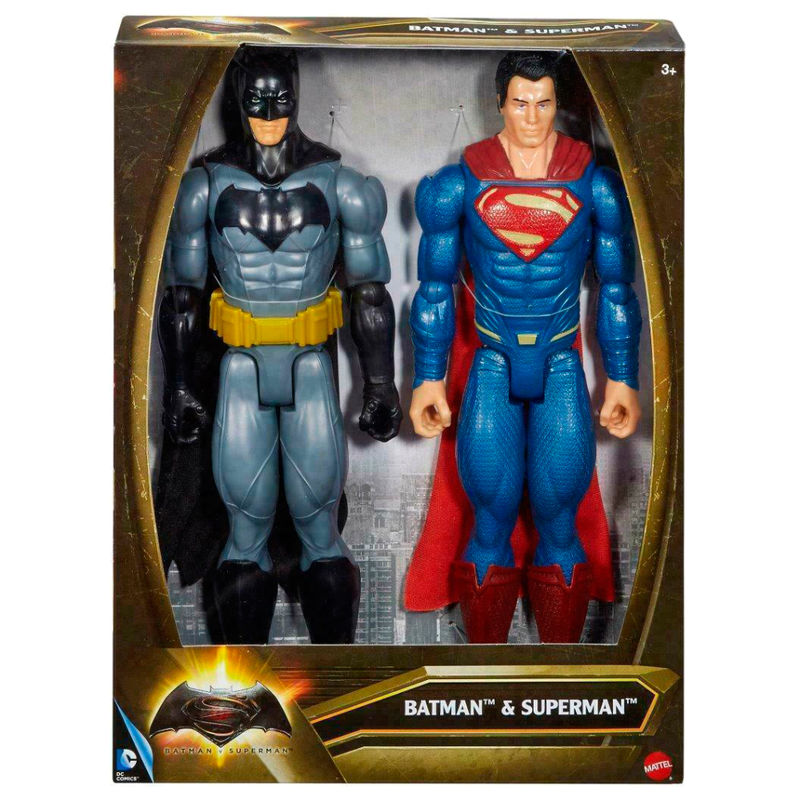 Set 2 figuras Batman vs Superman DC Comics