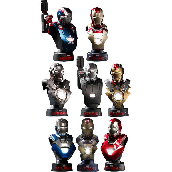 Set 8 bustos Iron Man 3 deluxe