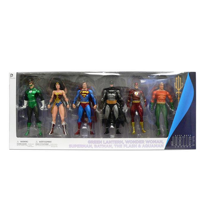 Pack 6 figuras Justice League Action Alex Ross