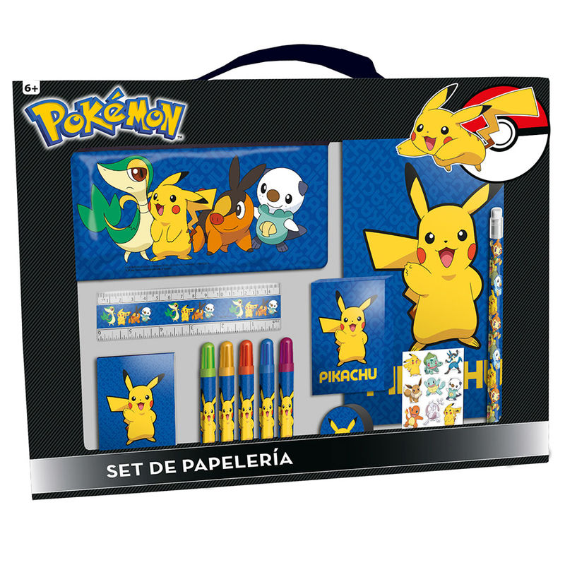 Set papeleria Pokemon Pikachu 20 pzs