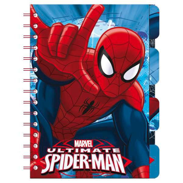 Libreta Spiderman Marvel marcadores