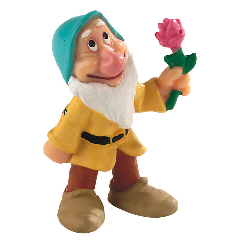 Figura enanito flor Blancanieves Disney